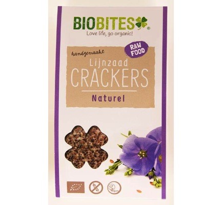 Raw food lijnzaad cracker naturel