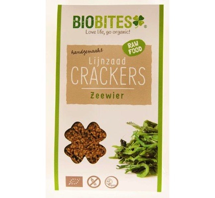 Raw food lijnzaad cracker zeewier