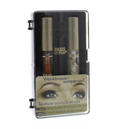 Eyebrow and eyelash dye brown premium