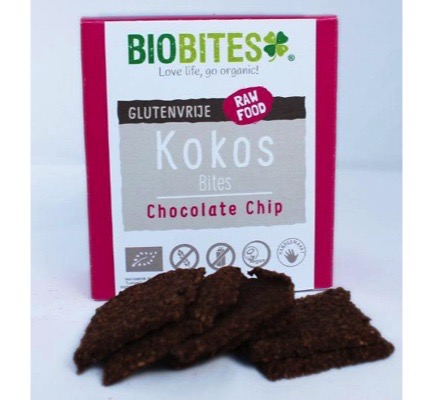 Raw food kokosbites chocolate chip