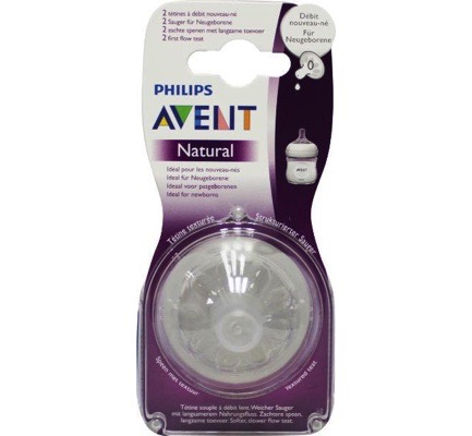 Avent speen natural new born soft flow