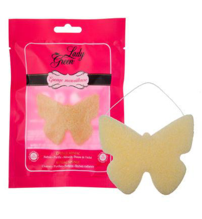 Lady Green Konjac Spons Lemon (1st)