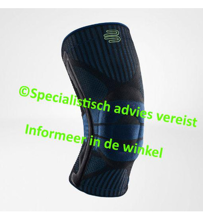 knee support xs zwart