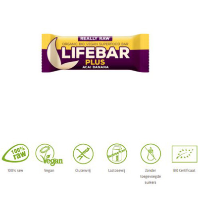 Lifebar plus acai banana biologisch