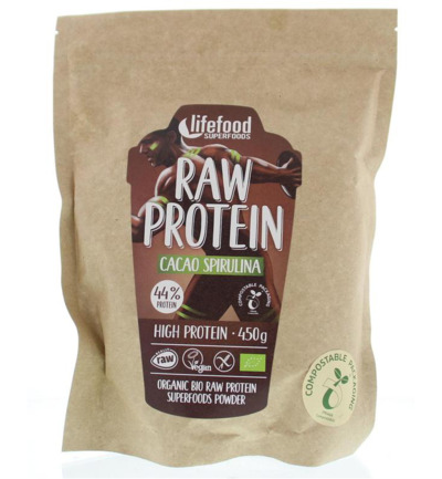 Raw superfood proteinepoeder cacao spirulina