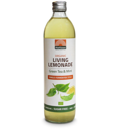 Living lemonade green tea mint