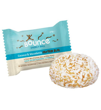 Protein energy ball coconut macadamia
