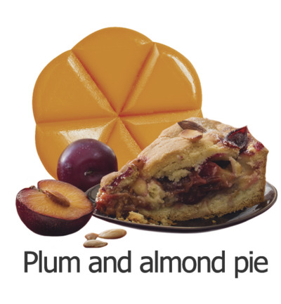Geurchips plum and almond pie
