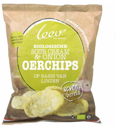Oerchips sour cream & onion bio
