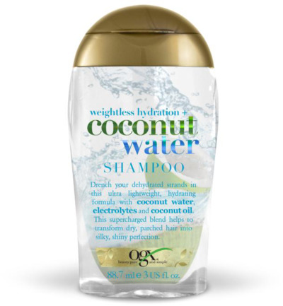 Shampoo hydration coconut water
