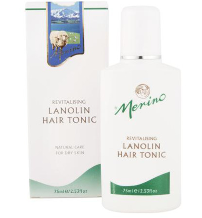 Lanolin hair tonic revitalizing