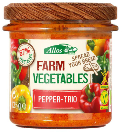 Afbeelding van Allos Farm Vegetables Pepper Trio 135g
