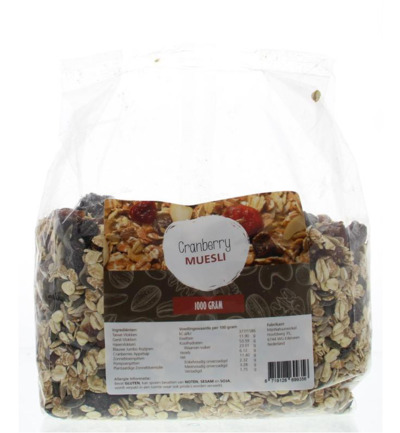 Cranberries muesli