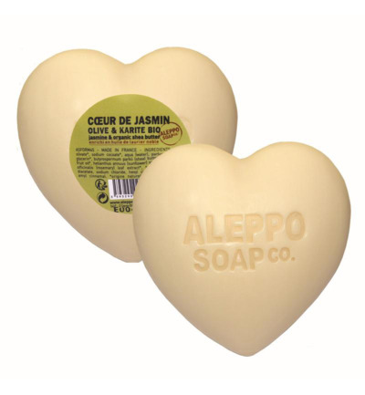 Afbeelding van Aleppo Soap Co Hartzeep Jasmijn In Cellofaan 200g