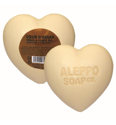 Afbeelding van Aleppo Soap Co Hartzeep Argan In Cellofaan 200g