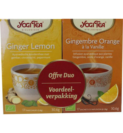 Duo ginger lemon & ginger orange vanilla