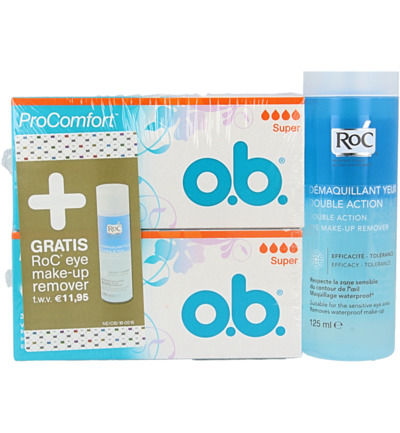 Ob Procomfort Super Tampon + Gratis Roc Eye Remover (1set)