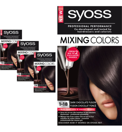 Mixing Colors 1-18 dark chocolate fusion Trio