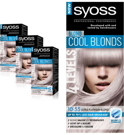 Color Cool Blonds 10-55 ultra platinum blond Trio