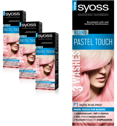 Blond P1 Pastel Rose 1-2 weken Spray Haarverf Trio