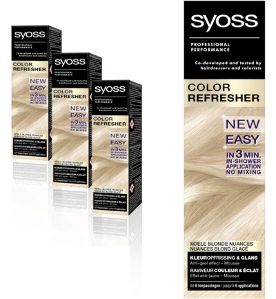 Color refresh cool blondes Trio