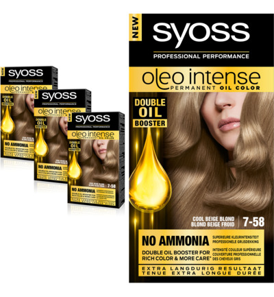 Oleo Intense 7-58 Cool Beige Blond Haarverf Trio