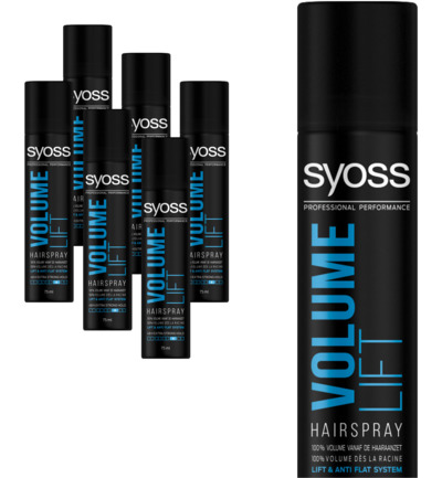 Volume lift haarspray 75ml 6-pack