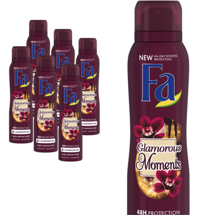 Deodorant spray glamorous moments 6-pack