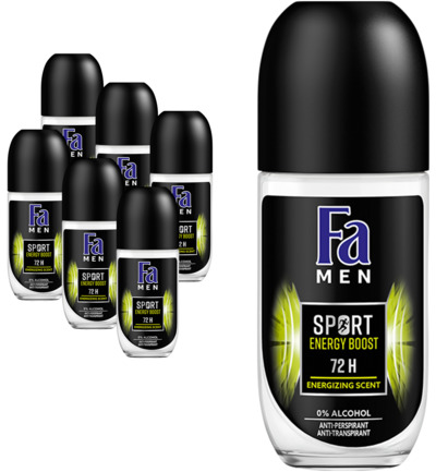Deodorant Roller Men sport energy boost 6-pack