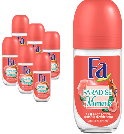 Deodorant roller paradise moments 6-pack