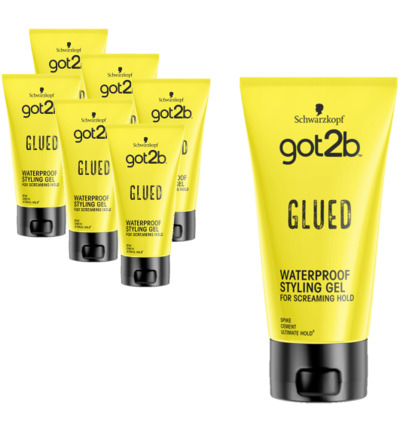 Glued styling gel 6-pack