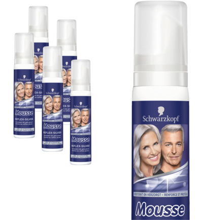 Mousse silver reflex 5 pack