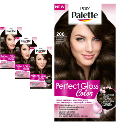 Perfect Gloss Haarverf 200 Donker Espresso Trio
