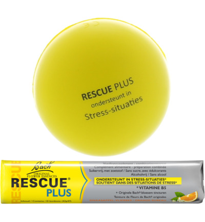 Rescue remedy plus bonbon + stressbal