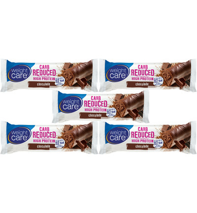 Carb reduced/High protein snackreep chocolade - 5 pack