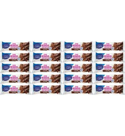 Carb reduced/High protein snackreep chocolade - 20 pack