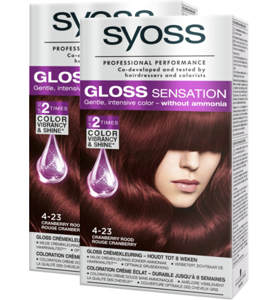Gloss Sensation 4-23 Cranberry Rood Haarverf Duo