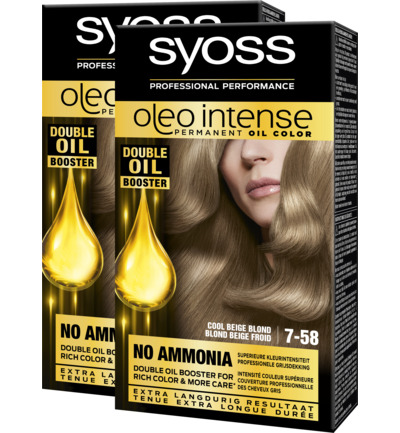 Oleo Intense 7-58 Cool Beige Blond Haarverf Duo