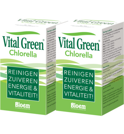 BLOEM Vital Green Chlorella Duo 2 x 1000