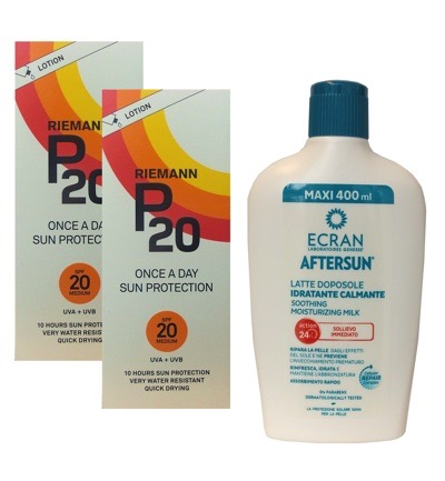 Once a day factor 20 + Ecran Aftersun Milk