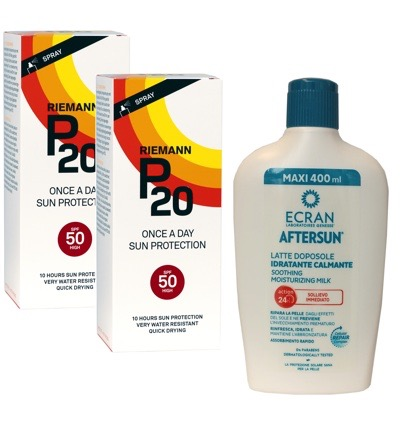 Once a day factor 50 spray duo + Ecran Aftersun