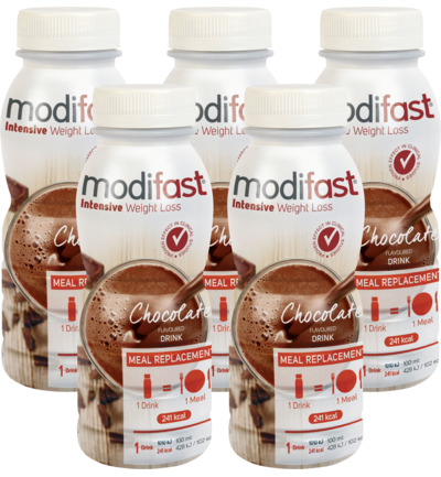 Modifast Go! Drinkmaaltijd Chocolade 5 pack (5x 236ml)