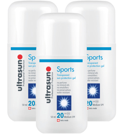 Sports Transparent Sun Protection gel SPF20 trio