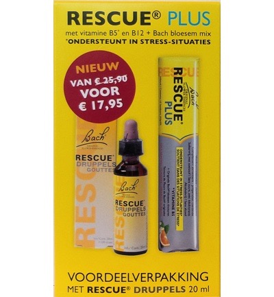 Remedy Plus Bonbon + Rescue Druppels