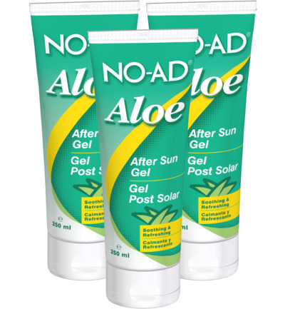 Aloe vera gel after sun tube trio