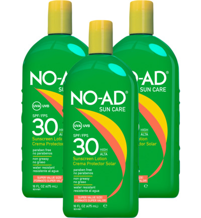 Sun tan lotion SPF30 trio