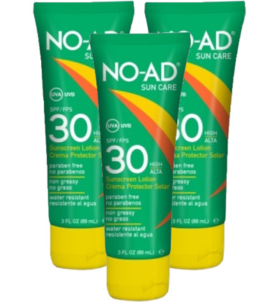 Sun tan lotion F30 tube trio