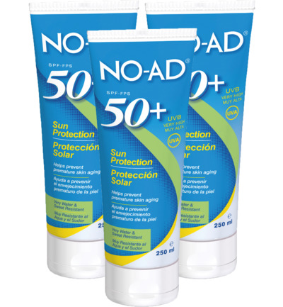 Sun tan lotion F50 trio