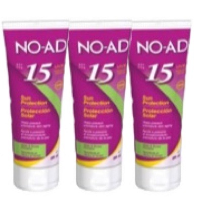 Sun tan lotion F15 tube trio
