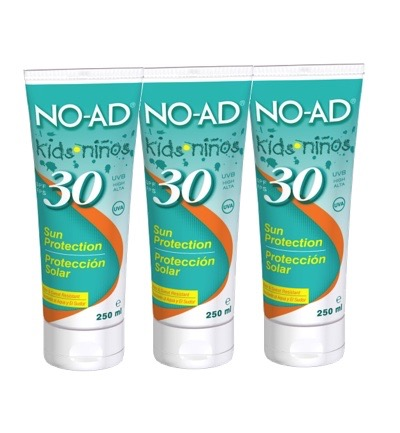Sun tan lotion for kids SPF30 trio
